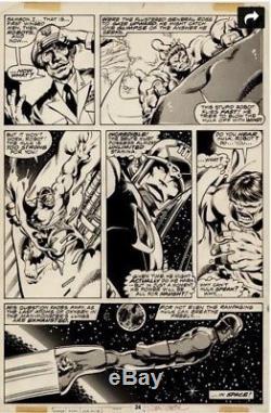 Hulk Annual 7 original art work by John Byrne