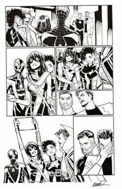 Humberto Ramos Signed 2019 Spider-man, Dr. Strange, Ms. Marvel Original Ink Art