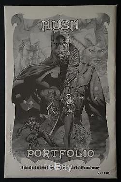 Hush Portfolio Batman Print Jim Lee 2013 San Diego Comic Con Limited to 100