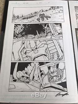 IDW Transformers Original comic Book Page Art Lot! Milne, Griffith, Cahill
