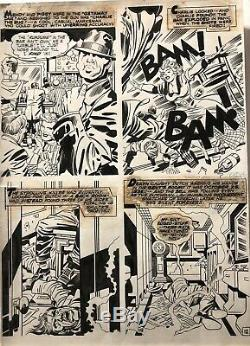 IN THE DAYS OF THE MOB 2 page 12 Original Art Jack Kirby/ Mike Royer 1972