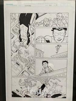INVINCIBLE Original Page Art By Ryan Ottley, Written By Robert Kirkman