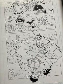 INVINCIBLE Original Page Art SIGNED By Ryan Ottley And Robert Kirkman