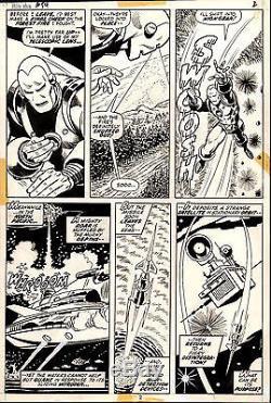 IRON MAN #54 Page 2 ORIGINAL Comic ART George TUSKA Vince COLLETTA 1973 ARTWORK