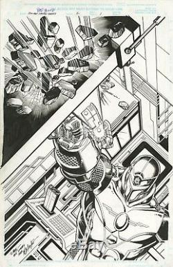 IRON MAN BAD BLOOD #2 Page 1 Original Art SPLASH by BOB LAYTON 2000 MARVEL