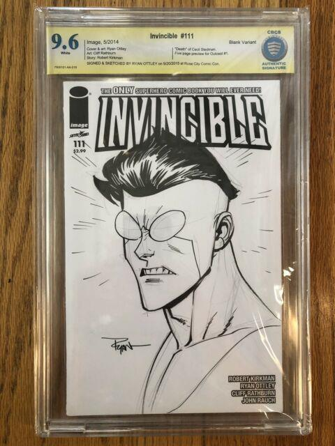 Image Invincible Sketch Original Art By Ryan Ottley Cbcs 9.6 Only One Cgc