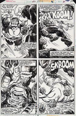 Incredible Hulk #222 Original Art by Jim Starlin 4 panel Battle Page