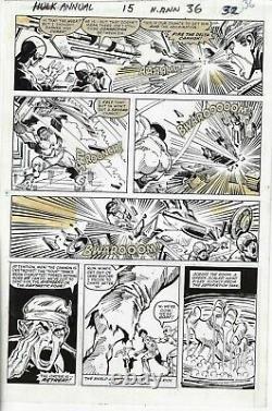 Incredible Hulk Annual # 15 Sal Buscema Art 1986 Page 36