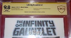 Infinity Gauntlet #1 Original Art Thanos Adi Granov Cbcs 9.8 Ss Infinity War Cgc