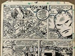 Invaders Original Comic Art Marvel Issue #36 Pg #2 Kupperberg/Stone Art