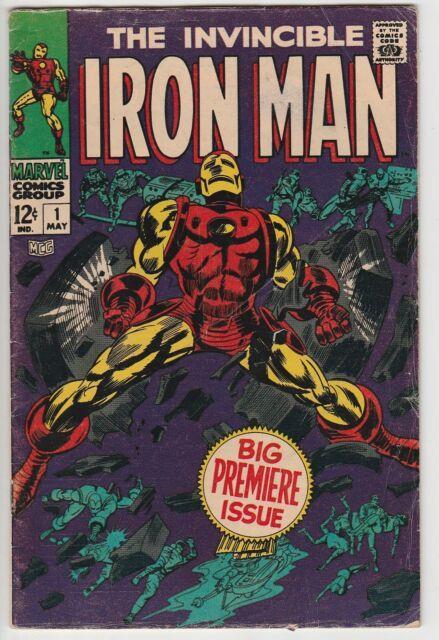 Iron Man #1, Mid Grade, Colan & Esposito Art, Origin Re-told