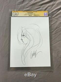 J SCOTT CAMPBELL Original Art BLACK CAT Sketch CGC signed spiderman venom 607 1