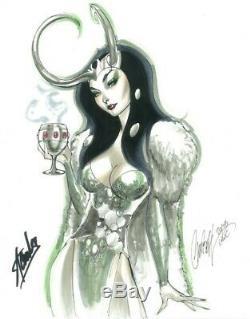 J. Scott Campbell Original Art Sketch Lady Loki