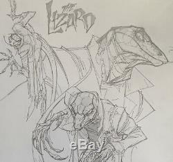 J scott campbell Original Spider-Man Lizard Art