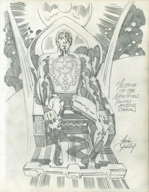 Jack Kirby Heroes & Villains Metron Of The New Gods Original Comic Art
