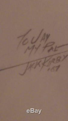 JACK KIRBY signed original pencil art Captain America Marvel Comics
