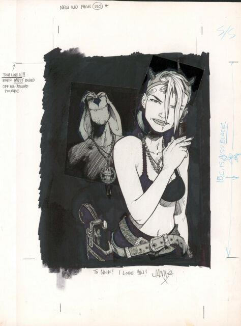 Jamie Hewlett Tank Girl & Booga Pin-up Original Comic Art Deadline