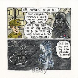 JEFFREY BROWN Vaders Little Princess p54 ORIGINAL COMIC ART Star Wars