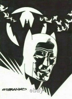 JIM STERANKO ORIGINAL BATMAN ART SIGNED & SKETCHED with COA RARE DC COMICS NOT CGC