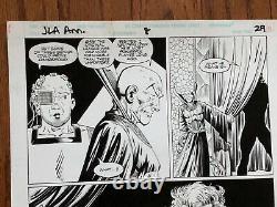 JLA Original Art DC Comics 1992 Superman