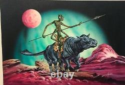 JOE JUSKO original comic art- card art painting-Warlord of Mars-RARE