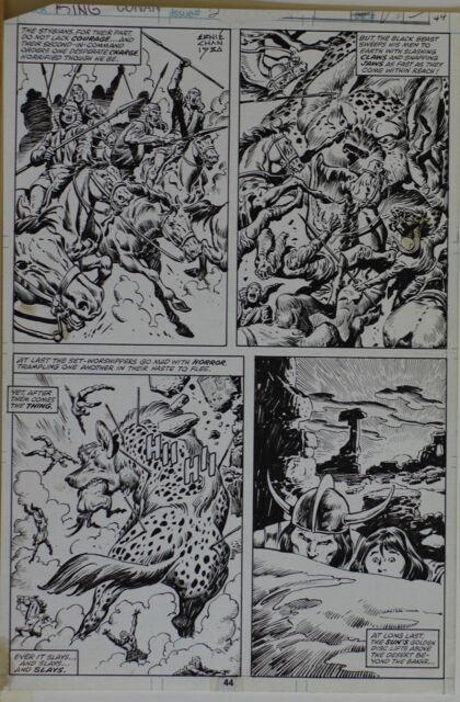 John Buscema / Ernie Chan Original Art, King Conan #2 Pg 44, 10x16, Signed
