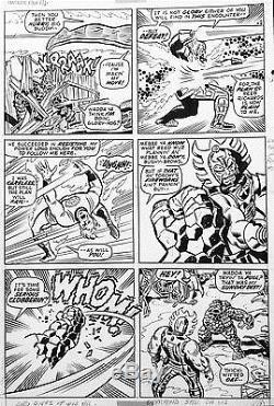 JOHN BUSCEMA & JOE SINNOT FANTASTIC FOUR #116 Original Comic Silver Age Art 1971