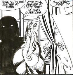 JOHN BYRNE Action Comics 593 MR MIRACLE DARKSEID Original Comic Art 1987
