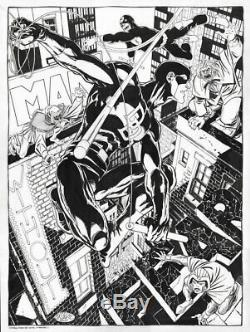 JOHN BYRNE DAREDEVIL THE MAN WITHOUT FEAR Poster-Size ORIGINAL Comic Art