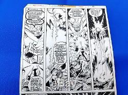JOHN BYRNE VTG SIGNED Marvel team-up Warlock Original Comic Art #55 Pg. 16 1977