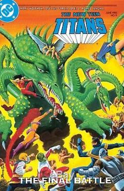 JOSE LUIS GARCIA-LOPEZ 1985 TEEN TITANS LARGE ART-SIGNED x 4-PEREZ, WOLFMAN