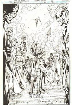 JSA Annual #2 p. 46 Tons of Heroes 100% Splash 2010 art by Tom Derenick