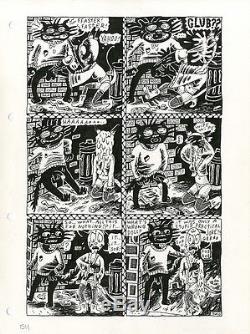 JULIE DOUCET Dirty Plotte #5 p17 MONKEY & THE LIVING DEAD Original COMIC ART