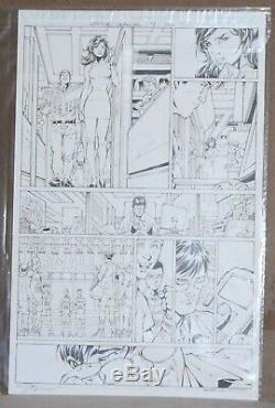 JUSTICE LEAGUE ISSUE #9 page 7 ORIGINAL ART by Artist Legend JIM LEE