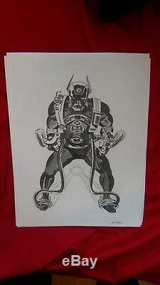 Jack Kirby 4th World Prints New Gods, Mister Miracle Set of 6 1971 Signed RARE