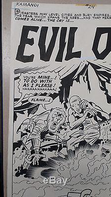 Jack Kirby Original Art Splash Page Kamandi