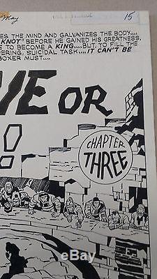 Jack Kirby Original Art Splash Page Kamandi Issue #29