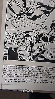 Jack Kirby Original Art Splash Page OMAC
