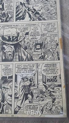 Jack Kirby original art! Page from Giant Size Chillers