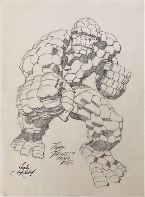 Jack Kirby Original Art Pencil Drawing Of The Thing