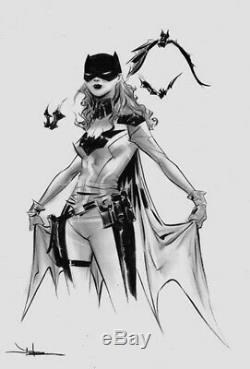 Jae Lee Original Art Batgirl Sketch 11x17