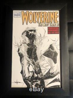 Jae Lee Original Art Sabretooth Sketch Wolverine Xmen Marvel Framed