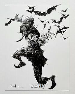Jae Lee Scarecrow Original Art Sketch Commission 9x12