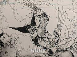 Jamie Biggs Original Comic Sketch art-Spiderman/Hulk/Wolverine/DP vs Juggernuat