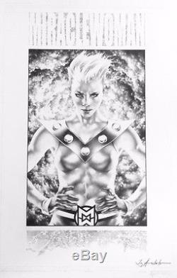 Jay Anacleto Miraclewoman from Miracleman original art pin up