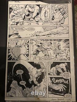 Jeff Purves Incredible Hulk #359 P. 17 Original Art Page Inks By Marie Severin