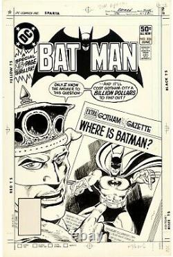 Jim Aparo Batman #336 Cover (DC, 1981) Original Comic Art. Stunning
