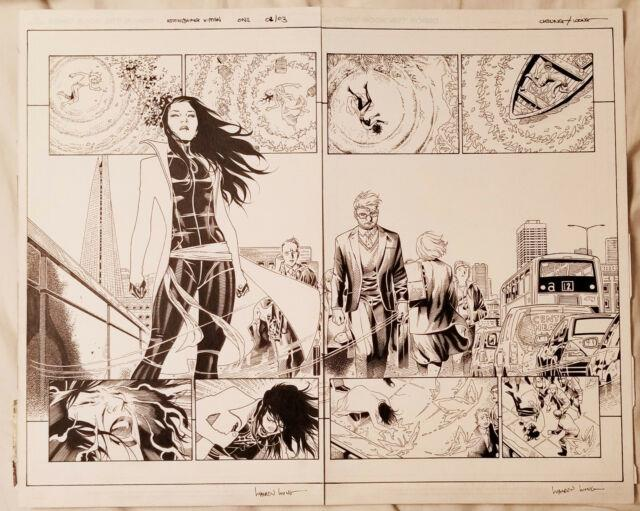 Jim Cheung Original Artwork Astonishing X-men #1 Double Page Spread