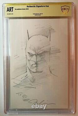 Jim Lee Batman Original Head Sketch #3 CBCS SS Authentic Signed (not CGC 9.8)
