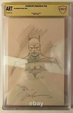 Jim Lee Batman Original Head Sketch CBCS SS Authentic Signed (not CGC 9.8)